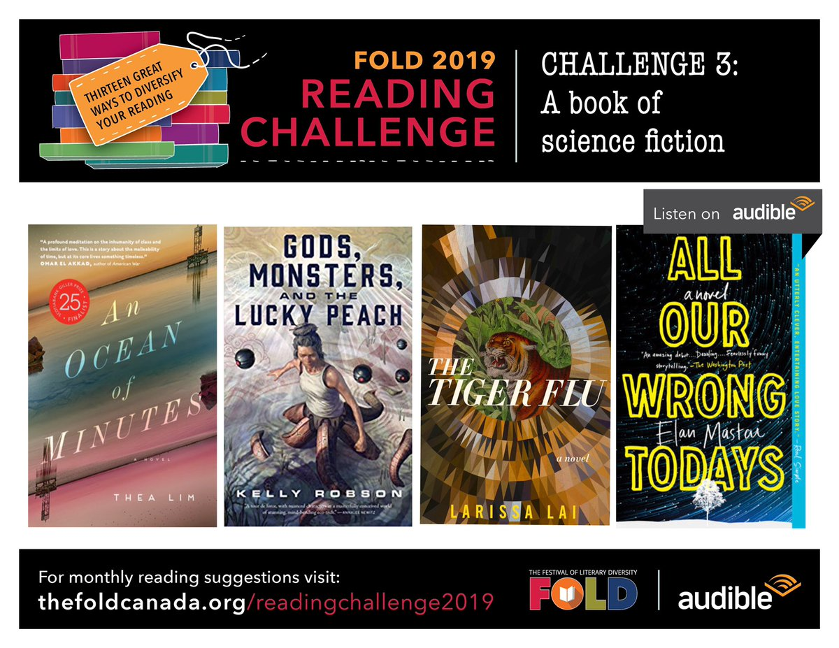 We're busy here at the FOLD headquarters, but never too busy to bring you even more books to love. Our March Reading Challenge is all about science fiction, and we have some great recommendations for you! Check them out on our blog today: http://thefoldcanada.org/reading-challenge-3-book-science-fiction/ … #FOLDRC19