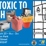 Image for the Tweet beginning: FREE Household Hazardous Waste Roundup