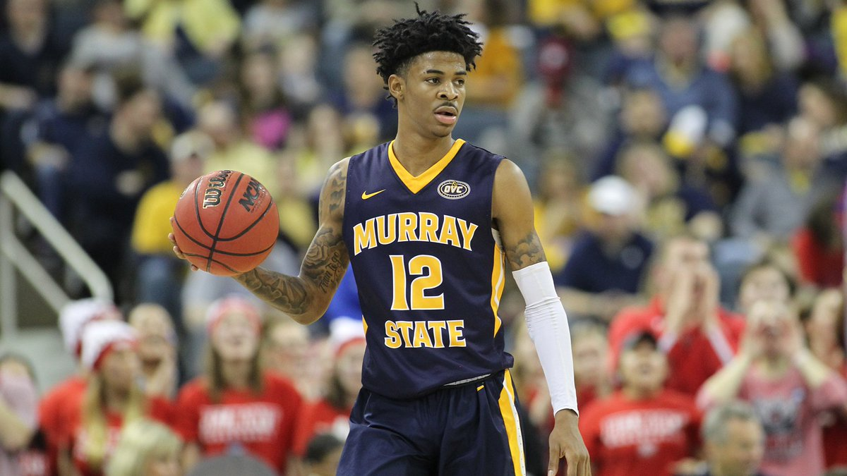 .@RacersHoops sophomore guard Ja Morant (@igotgame_12) earns his 6th All-American honor (third 1st-Team honor) & named 1 of 4 finalists for Oscar Robertson National Player of the Year Trophy by the @USBWA.  Story: http://bit.ly/2Tbm2iZ