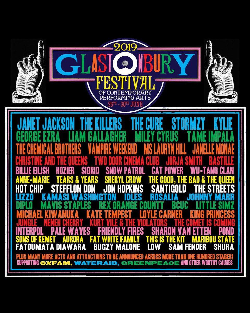 Glastonbury 2019 line up and ticket resale announced; Janet Jackson accused of self-promotion