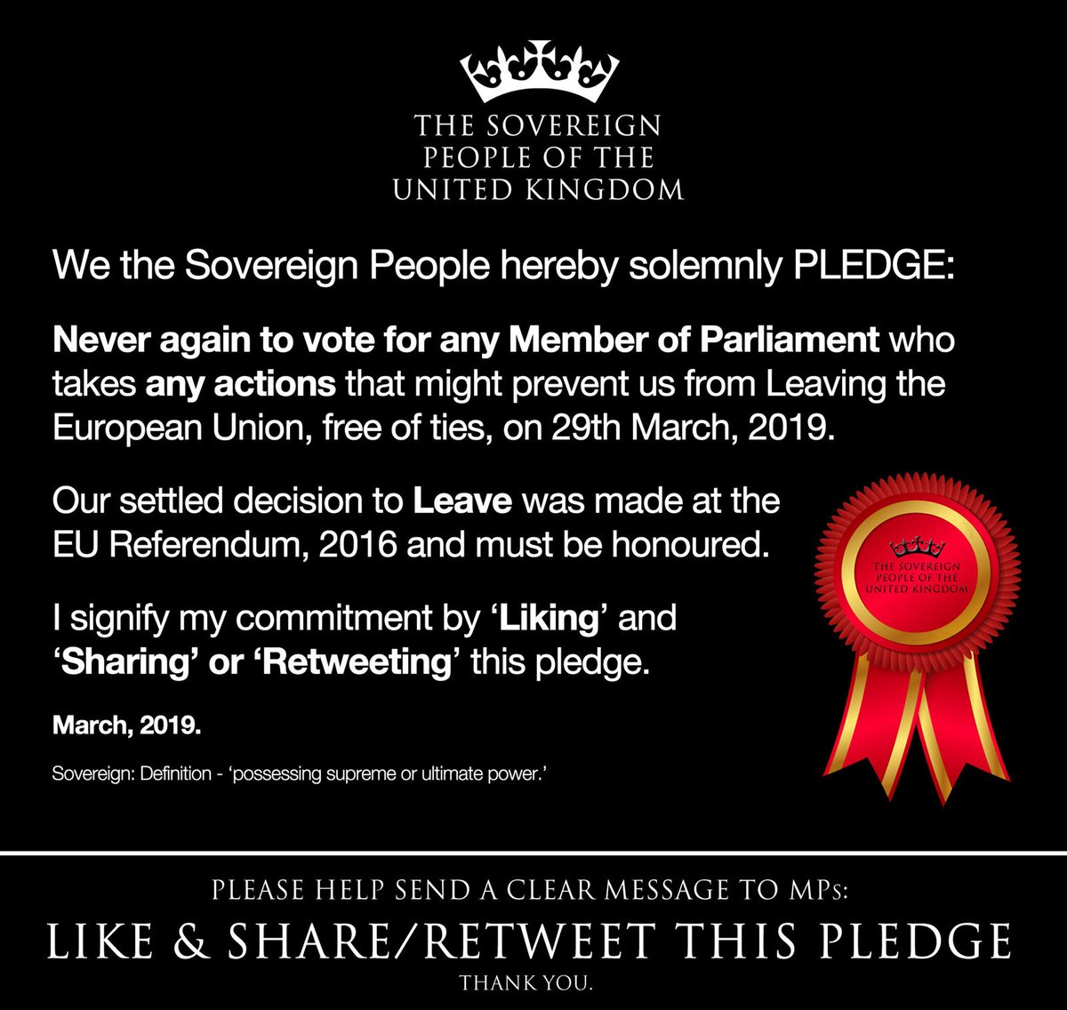 Please help send this clear message to Members of Parliament! - Like and Retweet! Thank you! #SovereignPeopleUK<br>http://pic.twitter.com/v38RCQKcVZ