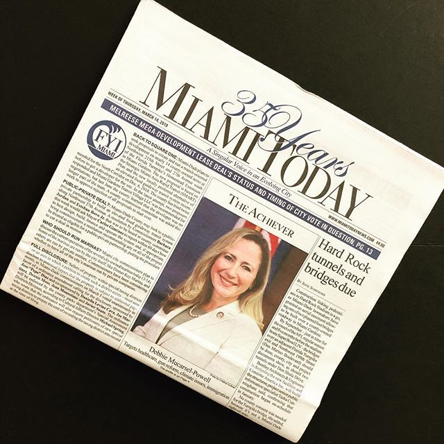 WEEK OF MARCH 14TH FRONT PAGE ACHIEVER  Debbie Mucarsel-Powell: Targets healthcare, gun reform, climate issues, immigration.  Most political hopefuls aim lower after a failed bid at office. Debbie Mucarsel-Powell aimed higher.  Following an unsuccessful … https://www.instagram.com/p/BvKJYFnHTSA/