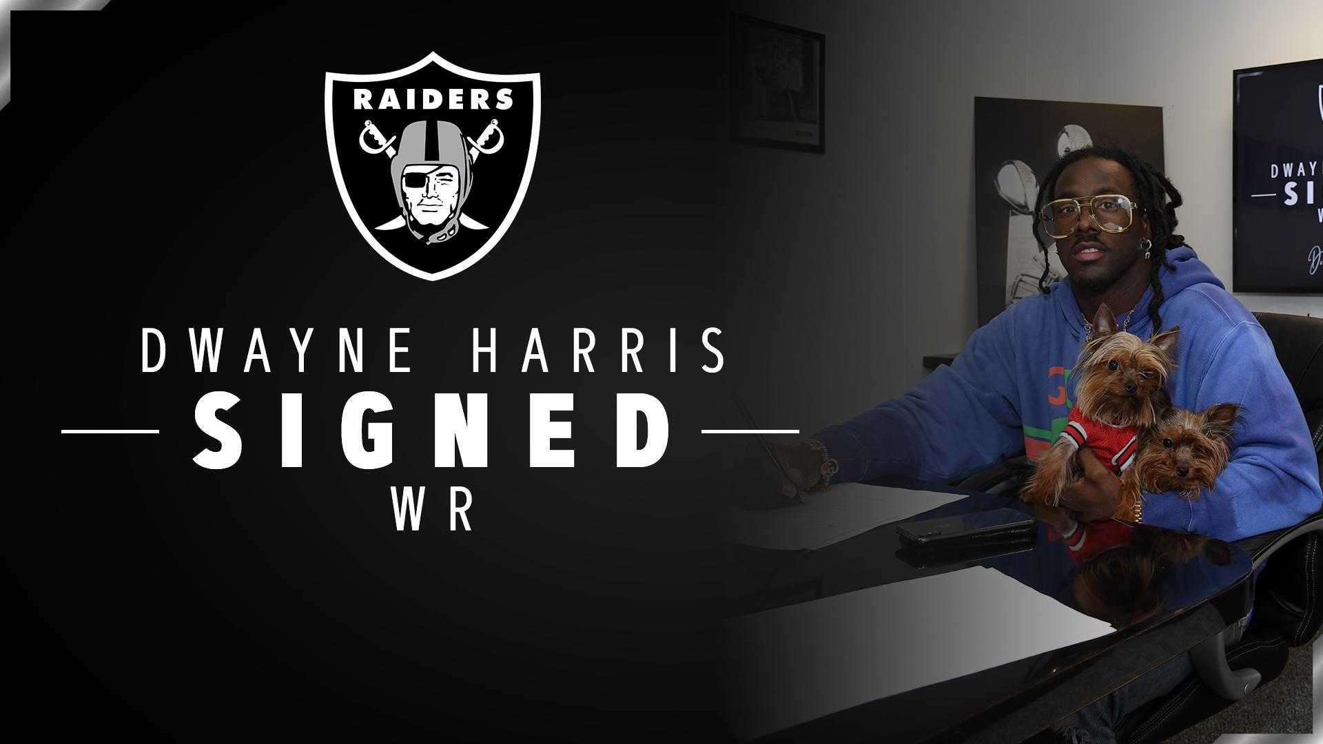 Back for more.  We have re-signed WR/RS Dwayne Harris: https://t.co/Ha4pNpUQKC #RaiderNation https://t.co/NNZ1FK9kT5