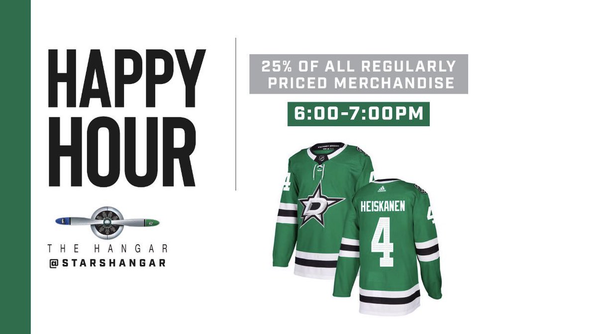 Who doesn't love Happy Hour? TOMORROW the Merch Team is throwing one for all our favorite people! GET 25% OFF ALL Regular Priced Merchandise at the AAC from 6p-7p! DISCOUNT ENDS AT 7p! Be there early to SAVE! #gostars  #savesomemonies<br>http://pic.twitter.com/DztwBOaRaU