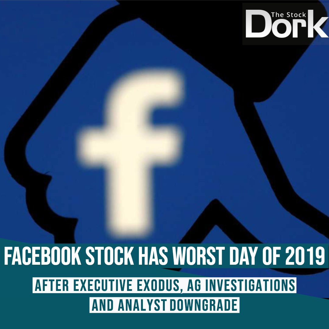 @thestockdork News: Facebook shares had their worst day of the year on Monday, falling nearly 4%. The company lost its chief product officer, Chris Cox, last week. Analysts downgraded the stock on Monday over concern that more executives could follow.  $FB #Facebook #stocks #news <br>http://pic.twitter.com/jfrtWl3cVN