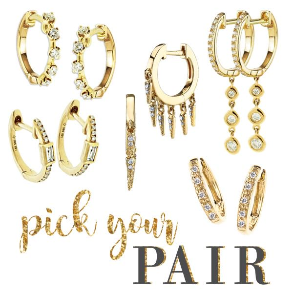 58bcf83e4 The PERFECT pair or hoops! We love all out little diamond studded hoops,  all yours from Jest Jewels! #hoops #hoopthereitis #diamondhoops #huggies ...