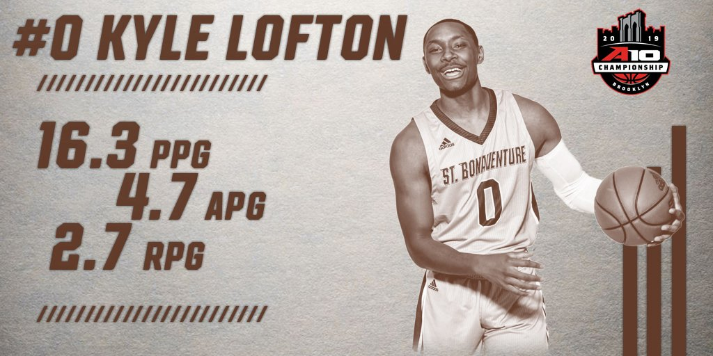 An incredible freshman season - and an incredible first #A10MBB Tournament❗️  Congrats to Kyle Lofton on earning Atlantic 10 All-Tournament Team honors! 👏👏  #Bonnies    #Unfurl