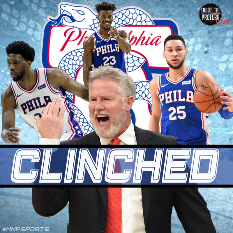 🚨Playoff Bound🚨  With the win against the Bucks on Sunday the @sixers have clinched a spot in the Eastern Conference Playoffs 💪 #HereTheyCome