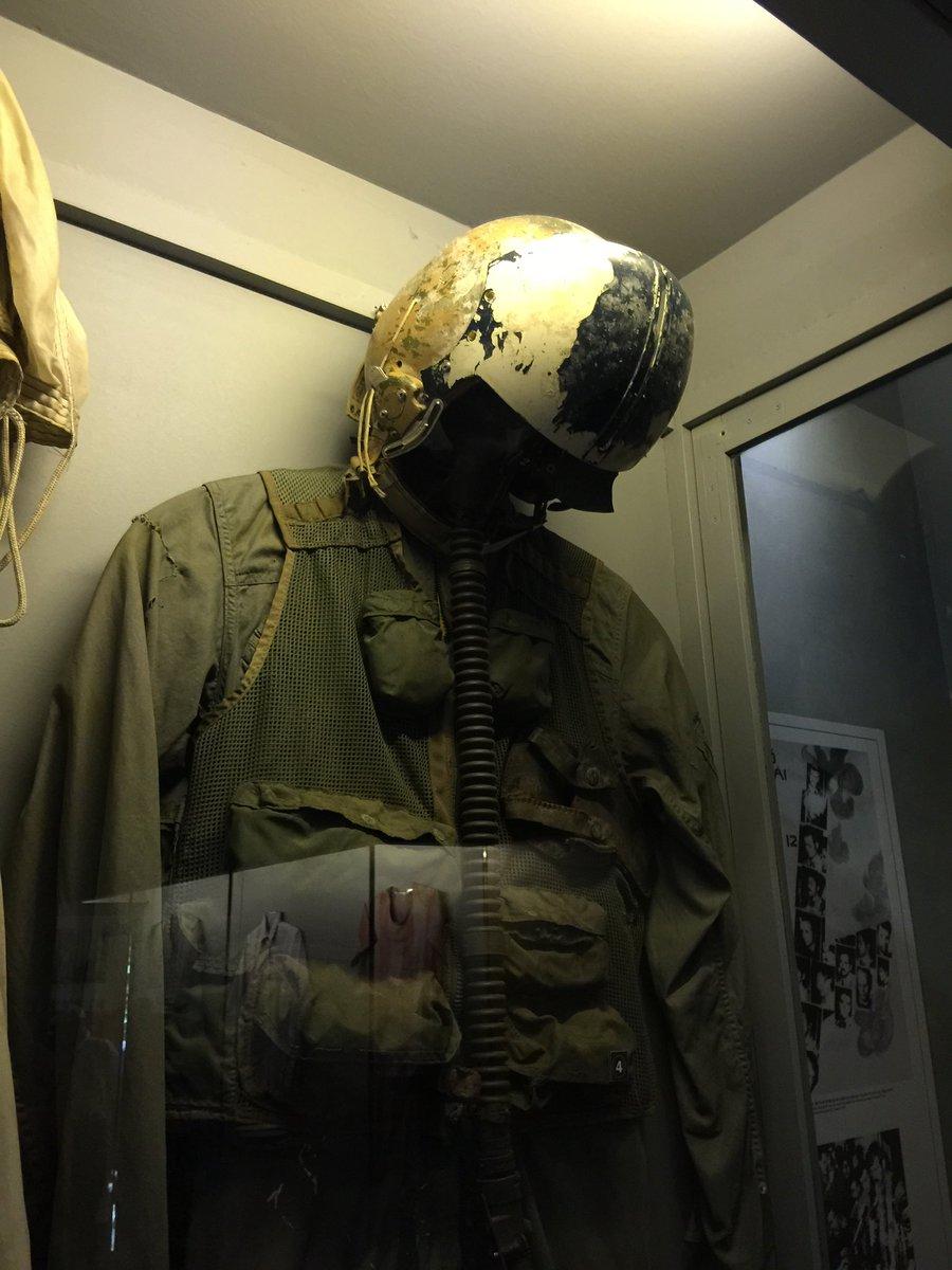 John McCain's helmet and flight suit on display in Hanoi's Hoa Lo prison. Perhaps it's time for the Vietnamese to return these items to Sen McCain's family. @jaketapper