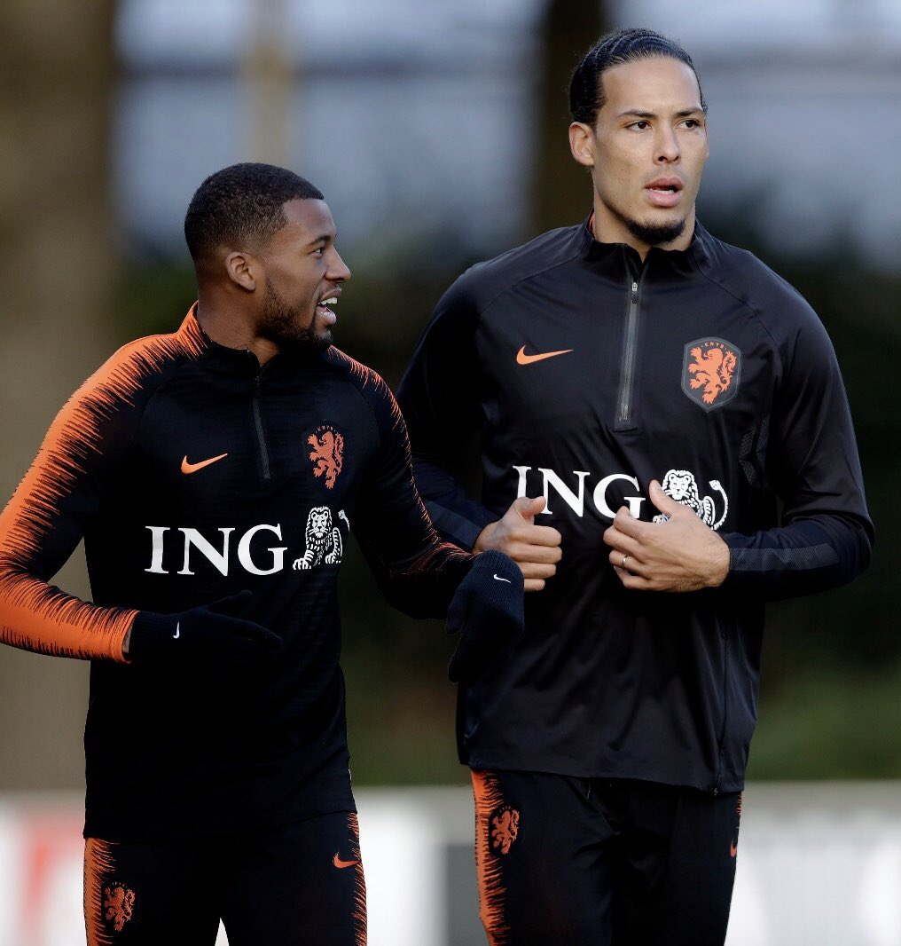 Today me and the rest of the national team started our preparations for the @EURO2020 qualifiers. Our training was closed off from the public because of the terrible attack that took place nearby in #Utrecht. Our thoughts and prayers are with all those affected by this. 🙏🏾