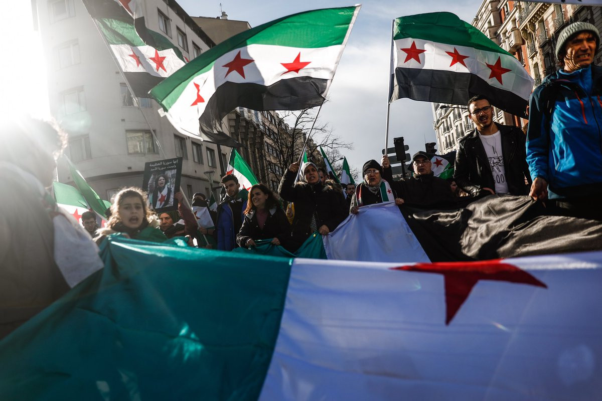 """Sameer Al-Doumy on Twitter: """"Paris, France .. The 8th anniversary of the Syrian  revolution! #Syria #France #Paris #Revolution #Protest #Freedom #Flag  #Photo… https://t.co/y9IT8Bfn20"""""""