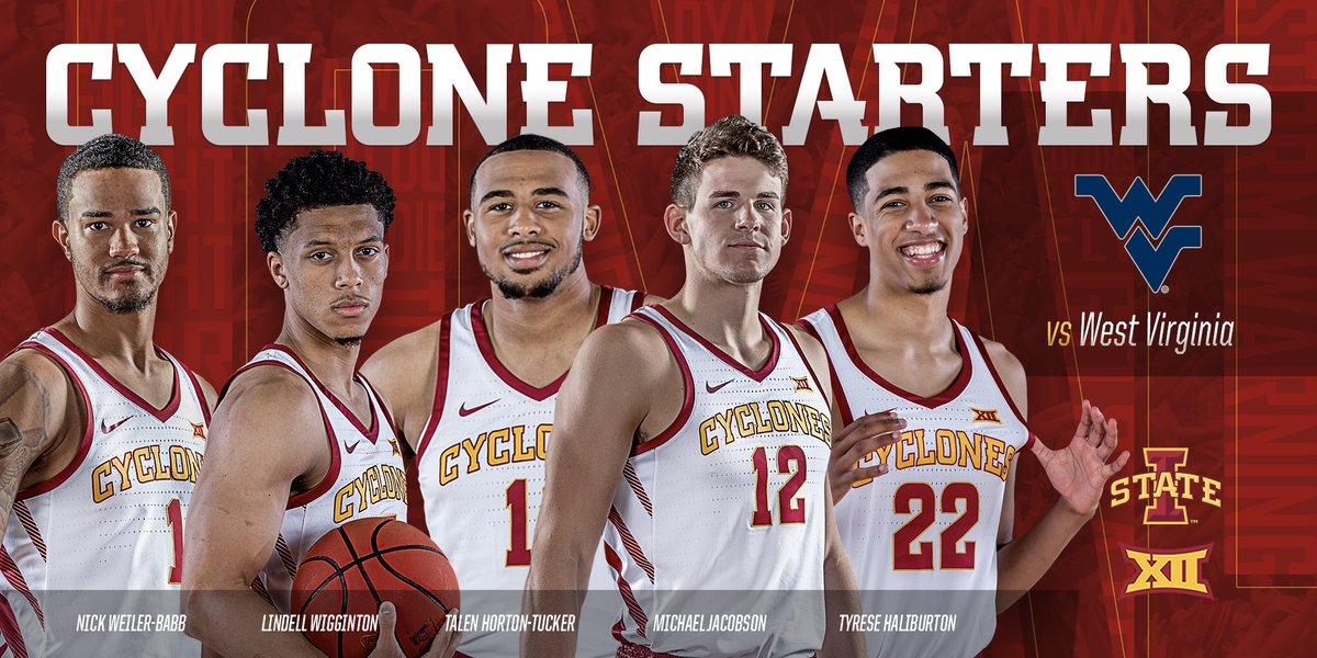 Alabama Starting Lineup >> Iowa State Men S Basketball On Twitter Starting 1 Weiler