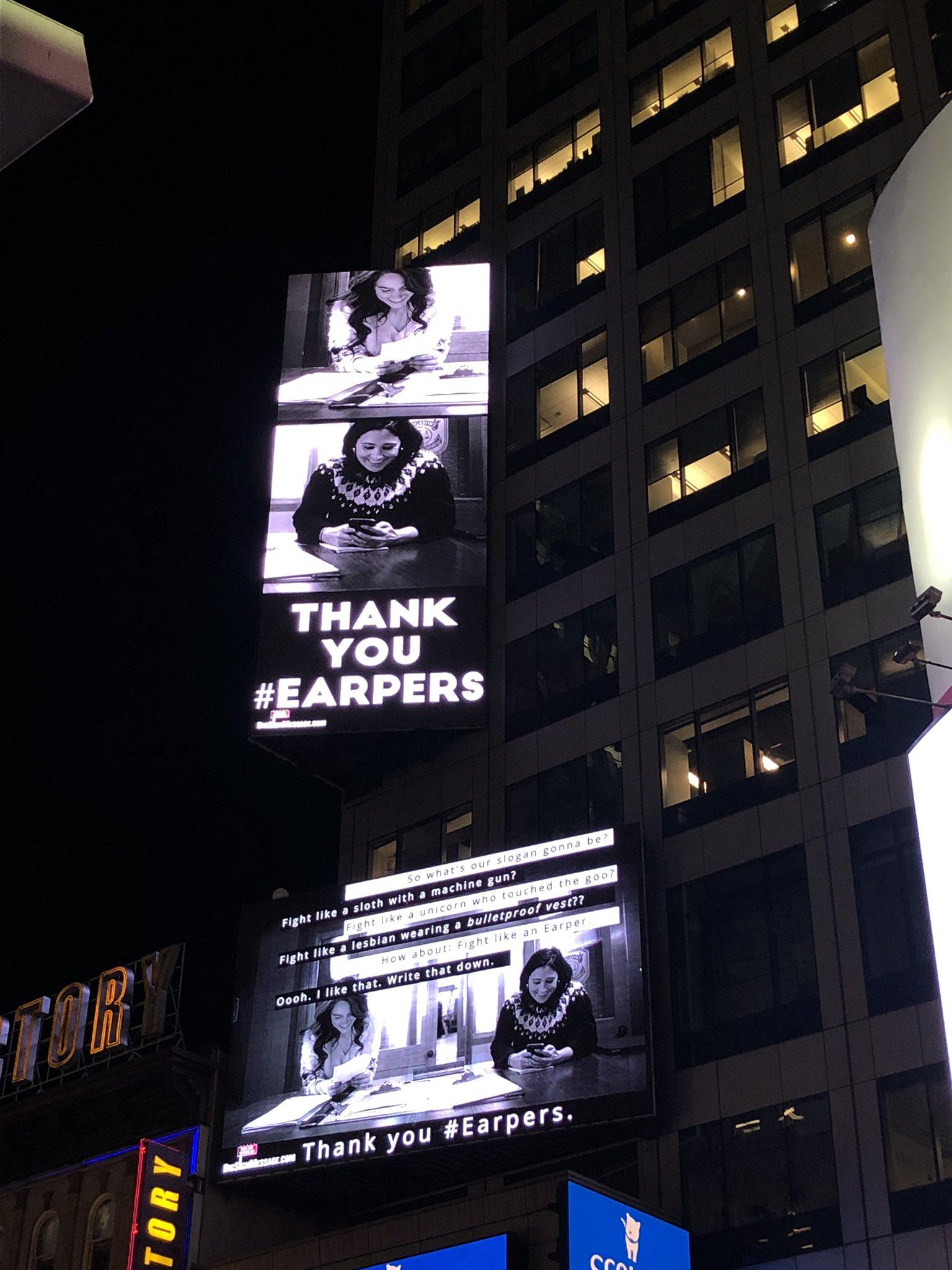 Wynonna Earp in Times Square