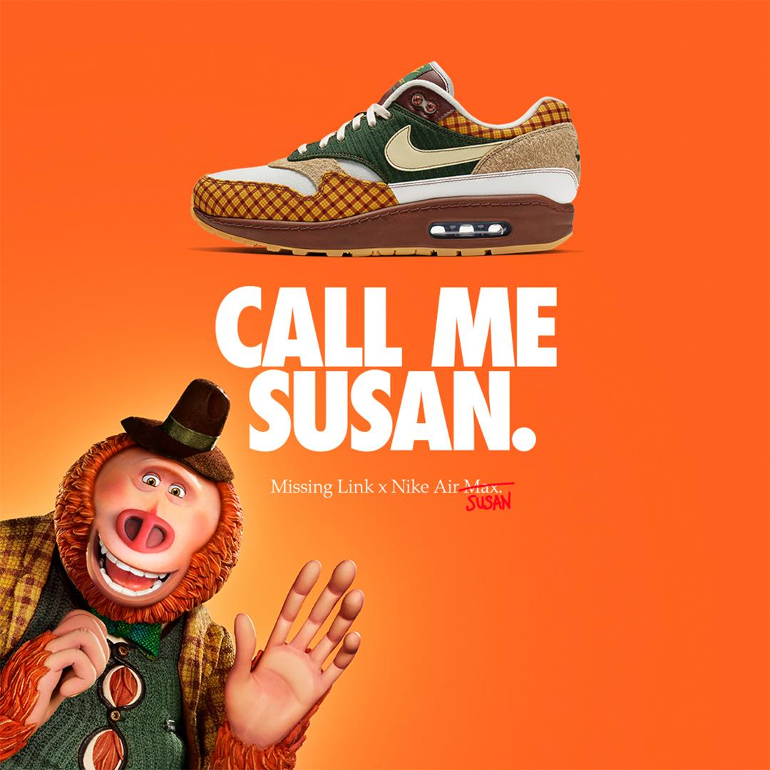 4d446640bf08 Lace up your  Nike Air Max Susans and join Mr. Link on his epic comedy  adventure. The Missing Link x Nike Air Max Susan releases April  9.pic.twitter.com  ...