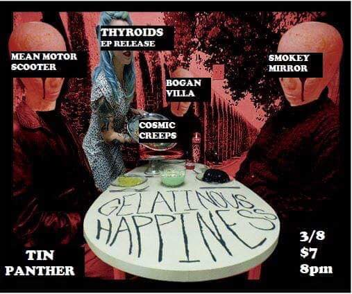 ... #FortWorth, TX 76107) 8pm - The Cosmic Creeps 9pm - Bogan Villa 10pm - Smokey Mirror 11pm - Mean Motor Scooter 12am - THYROIDS 8 pm // $7 Cover!!