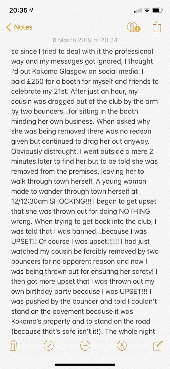 **********PLEASE READ************ If you go out in Glasgow or are looking to go there for a birthday...i would seriously advise against it!!! Waste of £250 @kokomoglasgow