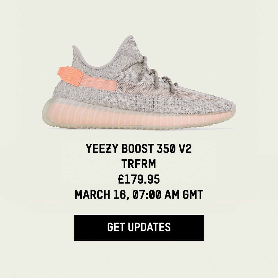 83bae3c64 The  adidas Europe Yeezy page has been updated for the True Form Yeezy  Boost 350 V2 with release times