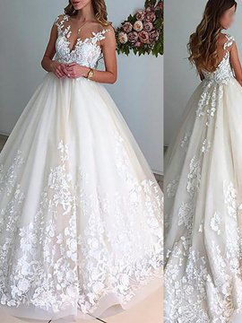 Wedding Fashions Bridal for weddings at Planet Goldilocks Wedding Dress-  see Ericdress Long Sleeves A-Line Applique Hall  Wedding Dress  http://www.planetgoldilocks.com/weddingfashions   2019- sizes US2 to 26w #WEDDINGS http://shrsl.com/1hl17 #AD #WEDDINGDRESS #weddingfashions  #Cinderella