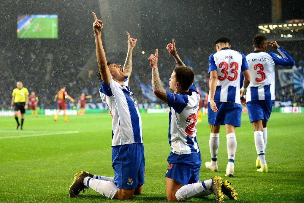 هدف بورتو الأول في مرمى روما في دوري أبطال أوروبا