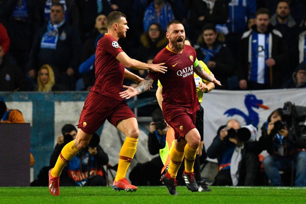 هدف تعادل روما أمام بورتو في دوري أبطال أوروبا