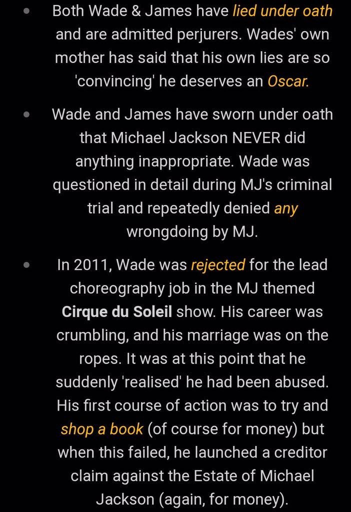 #LeavingNeverland Those who are viewing this documentary tonight, please also consider these facts about the two accusers. https://t.co/KqvFqSVBrV