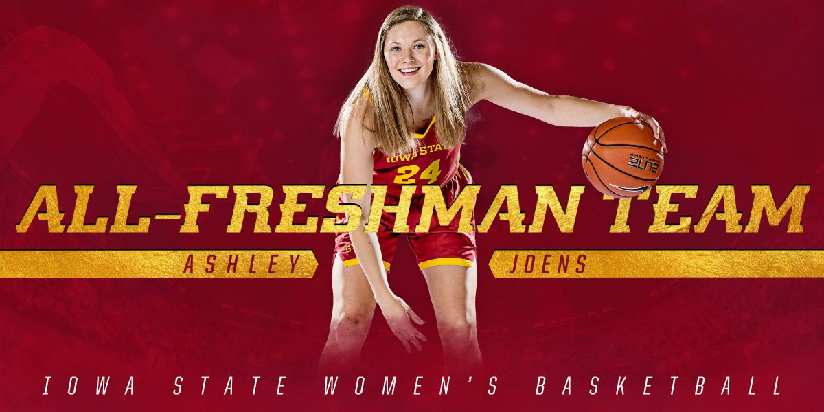 Congratulations to @ashleyjoens on being named to the Big 12's All-Freshman Team! 🌪️🏀