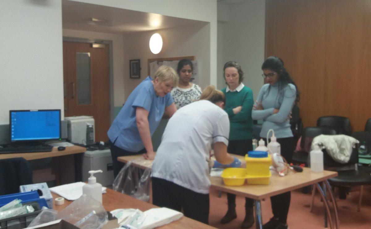 Nurse & midwife venepuncture & cannulation training today @STGHnursing Thanks to Lynn & Jean for facilitating