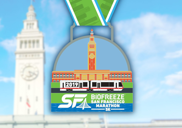 Bling has finally arrived!🙌 Your 2019 Biofreeze San Francisco 5k Finisher Medal has made its way into the Bay! Register today to earn this bling at the finish line on July 28th. http://bit.ly/2HfBHeO #BiofreezeSFM #RunThisBay