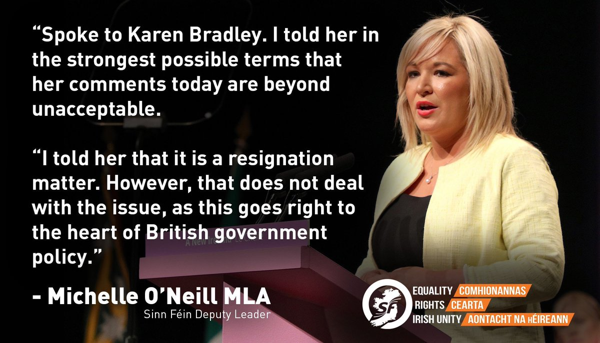 Michelle speaks to Karen Bradley and tells her that she should resign. No clarification required, Go!