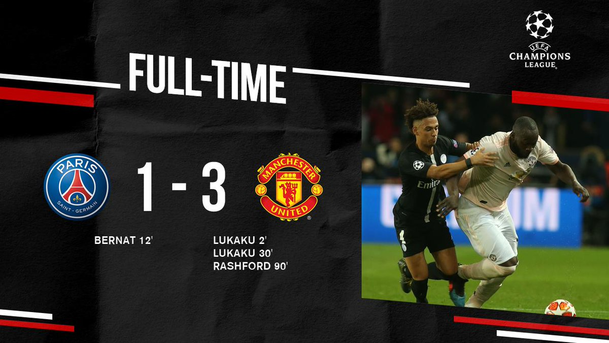 AND THAT'S THAT!  #MUFC book our place in the #UCL quarter-finals in the most dramatic fashion thanks to @MarcusRashford's injury-time penalty!