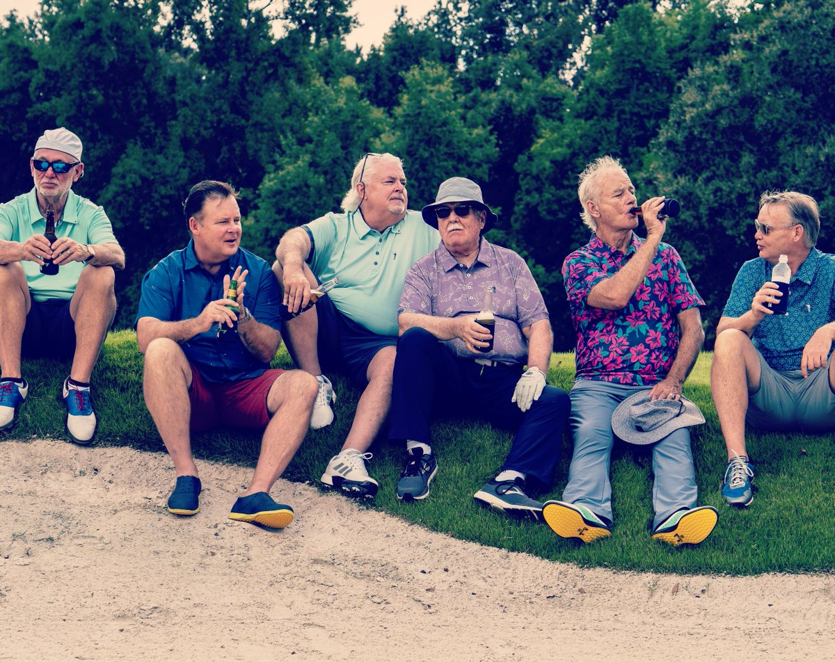 """""""I think a man workin' outdoors feels more like a man if he can have a bottle of suds.""""  Big action coming Thursday. Stay tuned.    http:// WilliamMurrayGolf.com  &nbsp;    #WilliamMurray #MurrayBrothers #MurrayMoments #BillMurray #BrianDoyleMurray #EdMurray #JoelMurray #JohnMurray #AndyMurray <br>http://pic.twitter.com/0tG80IOvmO"""