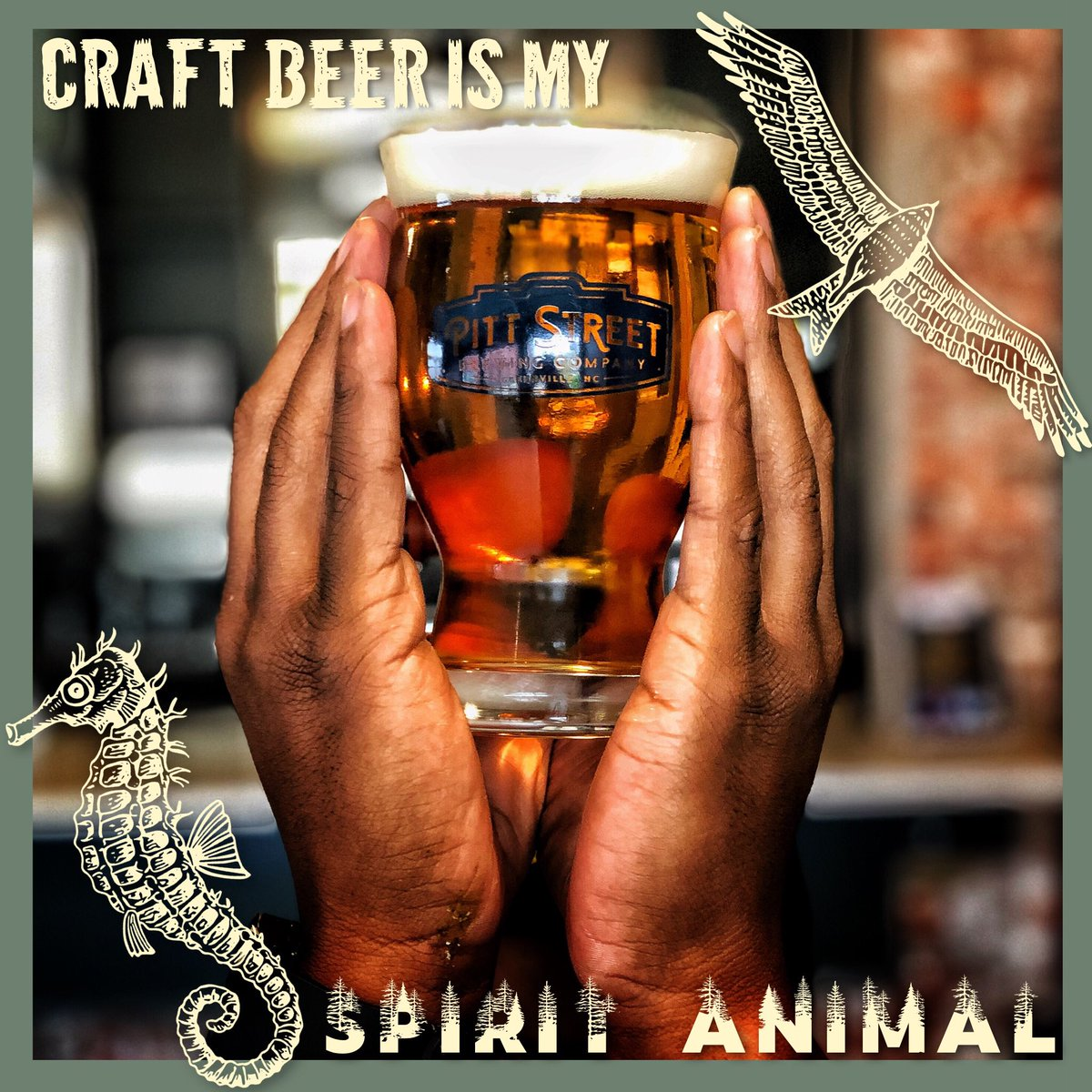 Craft beer is our spirit animal! 🦅 If you relate.. then come try our new Royster Stout or Strawberry Letter 23 while you enjoy free Open Mic Stand Up Comedy Tonight at 8pm! Don't forget to grab some to-go beer on your way out. All cans are 25% off! What's your spirit animal??