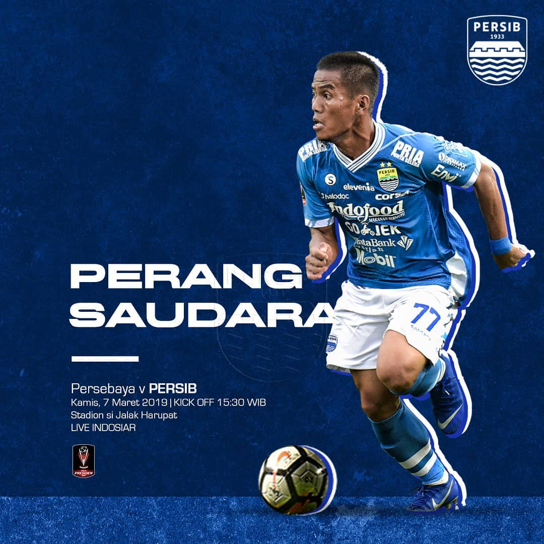 #PersibDay #PialaPresiden2019 Come On You Boys in Blue ✊💪🔵🔥