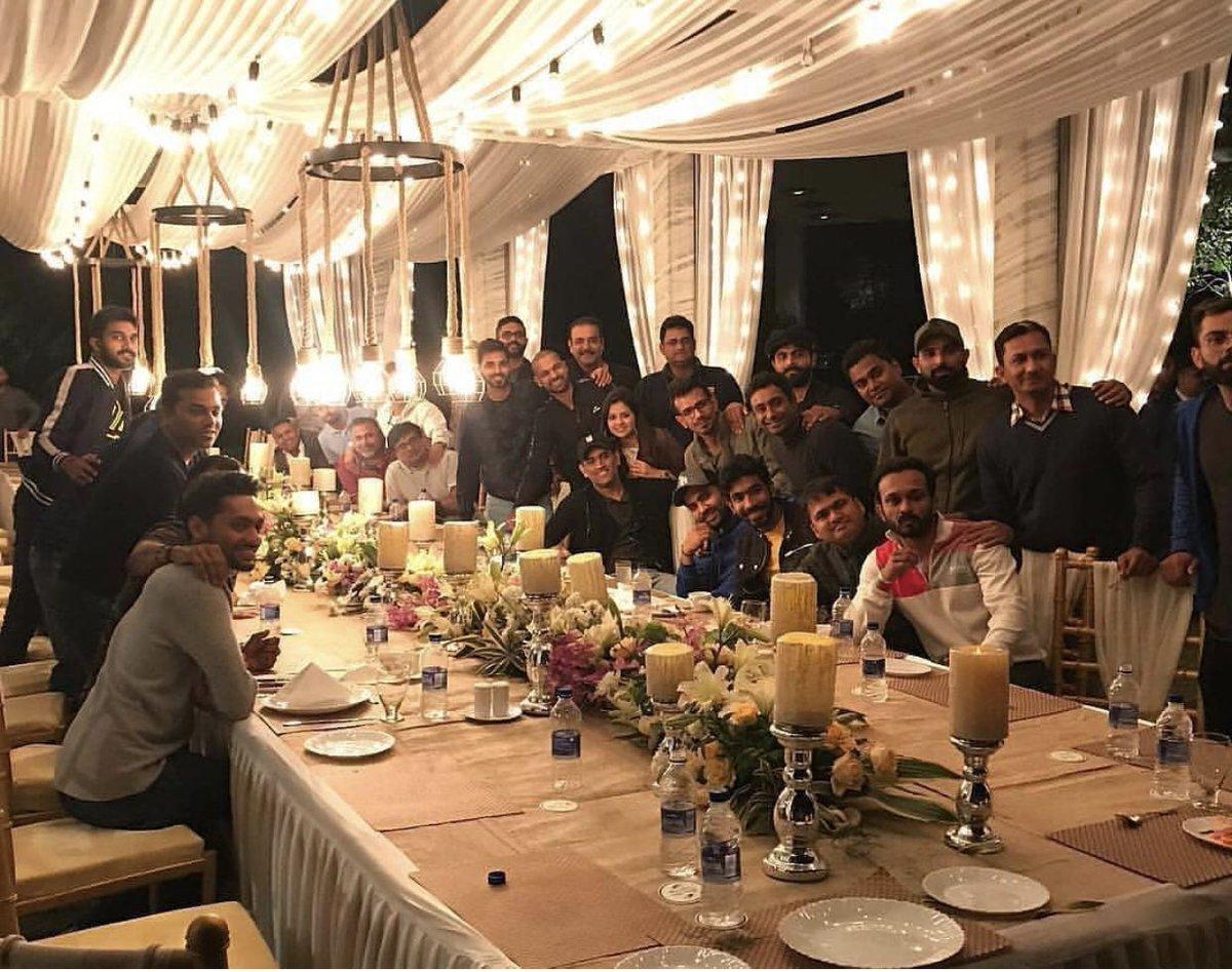 Thank you for last night @msdhoni bhai and @SaakshiSRawat bhabhi ☺️🇮🇳