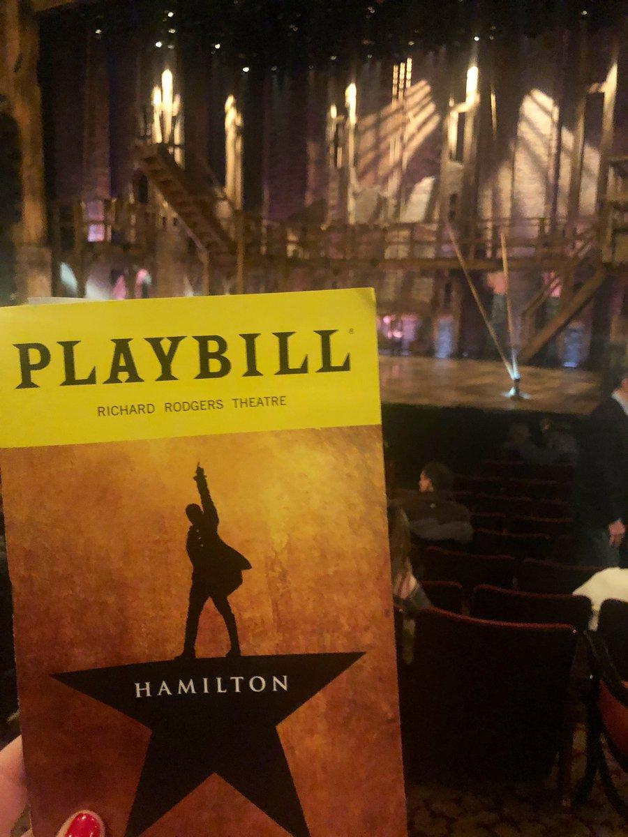 Hamilton is happening🙌