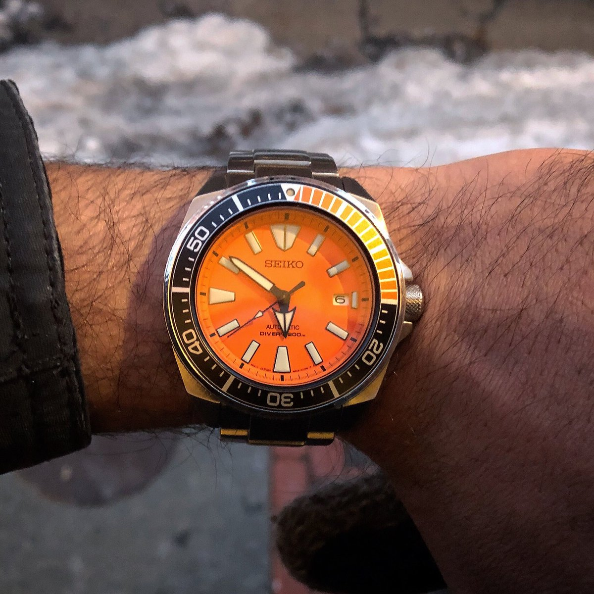 #WackyWednesday - who wears a bright orange watch in the middle of the week?  For our special episode on the Seiko Samurai, check out: https://t.co/WbtGnb4YFS  #Seiko #SeikoSamurai #watches #OrangeSamurai #SeikoDiver #wristwatchcheck @seikowatches https://t.co/uY5Uz40rm0