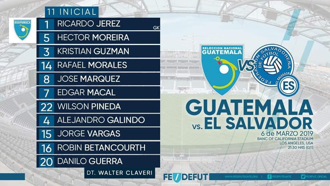Juego amistoso contra Guatemala el miercoles 6 de marzo del 2019. D1BmSUeXQAA7Ufi