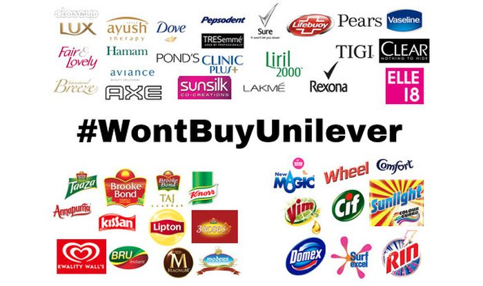 I'm not using many of the products, but will #BoycottHindustanUnilever products which are currently using!!!  #AntiHindus should pay for it!!!