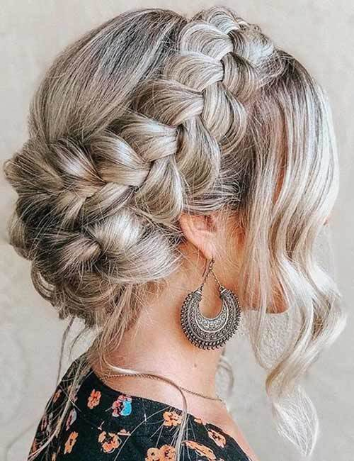 Crown Braided Updo HairStyle