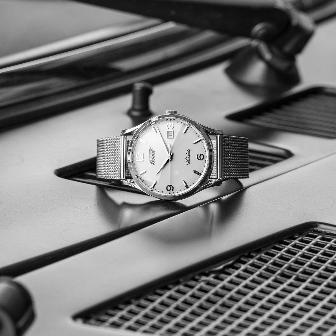 The #Tissot Heritage Visodate, vintage is the new modern: https://bit.ly/2TrDTpV  #BackToTheFuture 