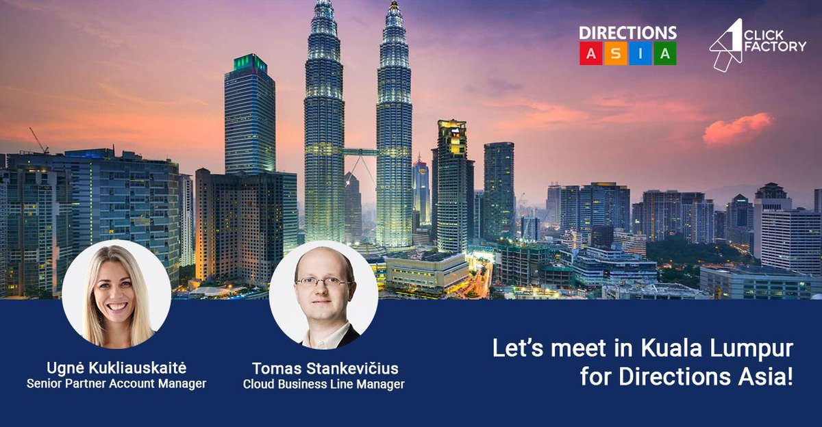 Can't wait for #DirectionsASIA in Kuala Lumpur? Neither can @1ClickFactory! Book your FREE consultation now for expert insights into upgrading #MSDyn365, #Cloud mistakes to avoid, .NET #dev & integrations & more >> https://calendly.com/ukukliauskaite  #MSPartners