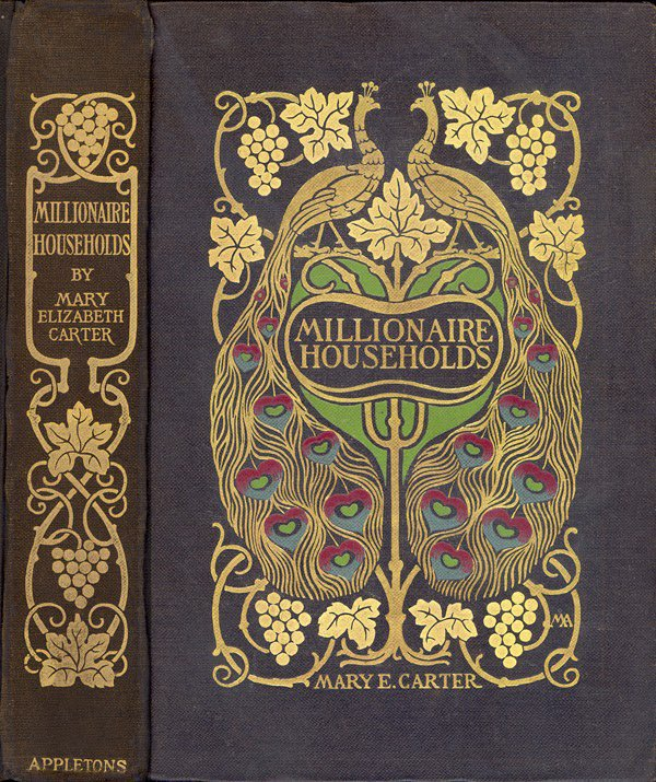 Book cover art, 1901 by Margaret Neilson Armstrong, US designer, illustrator, author known for her Art Nouveau style #womensart