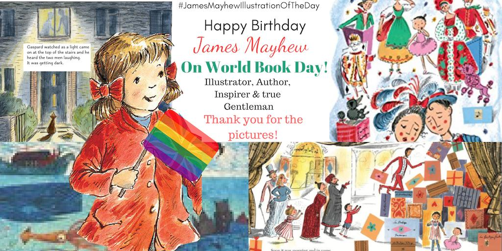 #JamesMayhewIllustrationOfTheDay #worldbookday #jamesmayhew #bookillustrationoftheday THANK YOU FOR THE PICTURES! Too many favourites, too  many beautiful books.Happy Birthday James. @mrjamesmayhew<br>http://pic.twitter.com/LQLSWCIymV