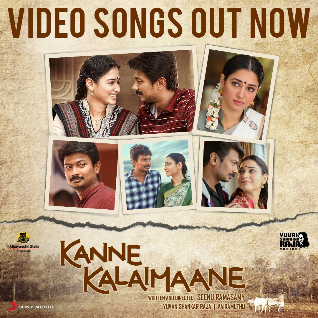 A true-blue visual delight in @seenuramasamy's artistic splendor #KanneKalaimaane! Presenting the fascinating song videos you will fall in love with!♥️✨  Watch #KanneKalaimaaneVideos now➡️ https://SMI.lnk.to/KanneKalaimaaneVideos …  @Udhaystalin @tamannaahspeaks @thisisysr @RedGiant_Movies