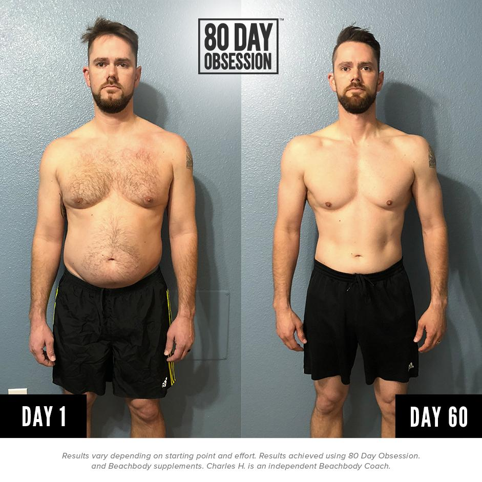"""80 Day Obsession beachbody on twitter: """"in less than 80 days, charles h. saw"""