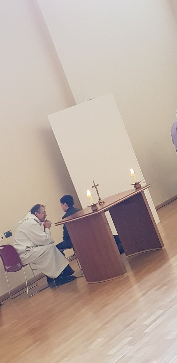All of our students have the opportunity to recieve the Holy Sacrament of Reconciliation #Lent2019
