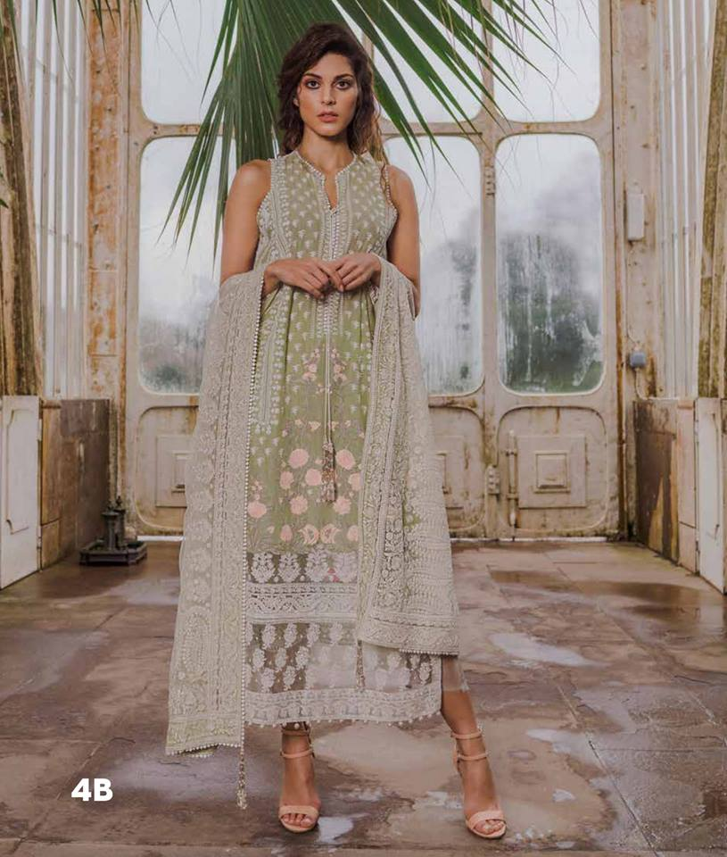 eb62278e377 For Online Order ▻http   bit.ly SobiaNazir2019 Fabric   Lawn Fabric Price   8150 PKR Details   3 piece luxury printed and embroidered unstitched lawn  suit ...