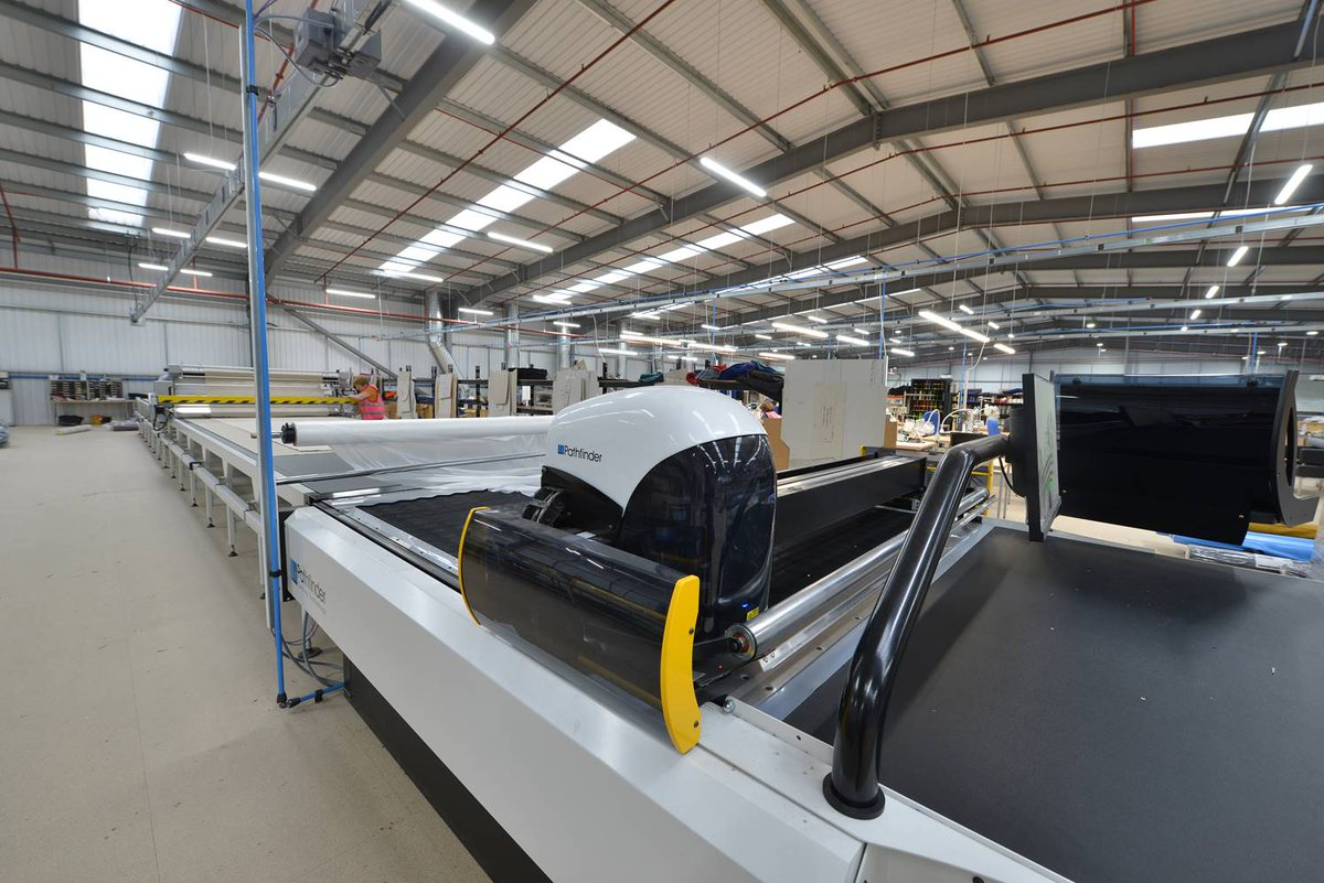 Our recently installed, state-of-the-art Pathfinder CNC fabric cutting machine, coupled with CAD pattern design software to produce the perfect cut every time! This weeks installment from our #InsideDams feature #UKManufacturing