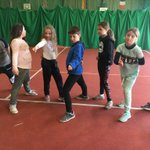 Group 8 looking fierce at fencing!