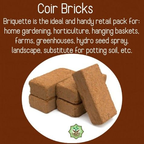 Coir Bricks Uses